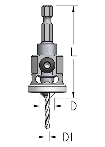 AQP Countersink with Low Friction Depth-Stop HEX shank